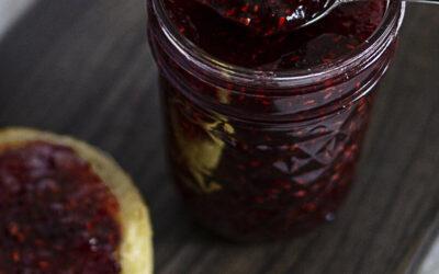 Raspberry Liqueur Jam