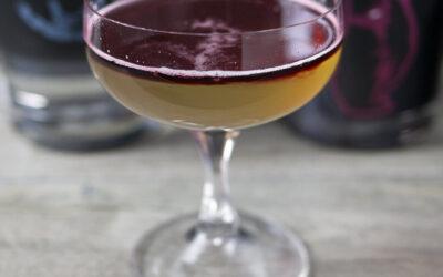 Gimlet with Haskap Gin Float