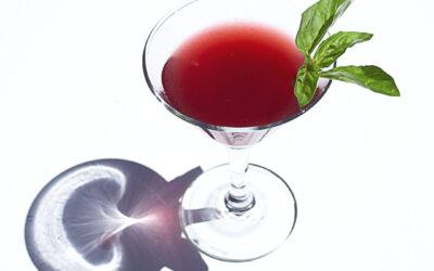 Black Fox Raspberry Liqueur Martini